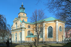 Maria Magdalena Church in Stockholm Royalty Free Stock Photos