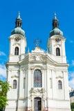 Maria Magdalena-de kerk in Karlovy varieert Royalty-vrije Stock Foto