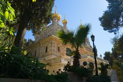 Maria Magdalena orthodox monastery in Jerusalem Royalty Free Stock Image
