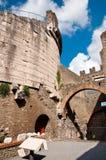 Maria Metella mausoleum courtyard in Via appia antica at Rome Royalty Free Stock Photo