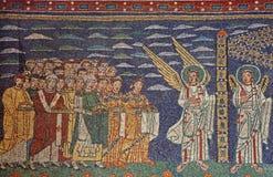 maria mosaikrome santa trastevere Arkivfoton