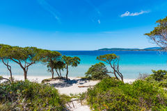 Maria Pia beach on a sunny day Royalty Free Stock Image