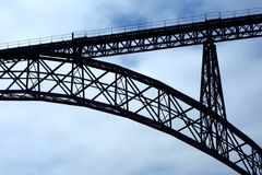 Maria Pia Bridge - Porto Royalty-vrije Stock Afbeeldingen