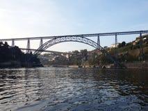 Maria Pia Bridge, Porto. Maria Pia Bridge over Douro river, in Porto, Portugal Stock Photos