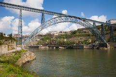 Maria Pia Bridge in Porto Stock Image