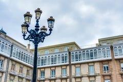 Maria Pita Square in A Coruna, Galicia, Spain Stock Photo