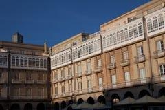 Maria Pita square, La Coruna Royalty Free Stock Images