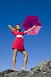 Maria Poppins en color de rosa Foto de archivo
