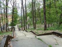 Maria Radna Franciscan Monastery - Pelerin kulle - vägen av korset - Lipova, Arad, Rumänien arkivfoton