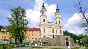 Maria Radna Franciscan Monastery - Romania. Maria Radna Franciscan Monastery`Maria Radna` Monastery. Located in the city of Lipova, Arad County - Romania. Built royalty free stock images