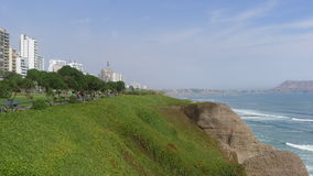 Maria Reiche park in Miraflores district of Lima Stock Image