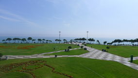 Maria Reiche park in Miraflores district of Lima Royalty Free Stock Photo