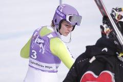Maria Riesch - ski alpestre Photographie stock