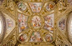 maria rome santa trastevere Arkivfoto
