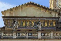 maria rome santa trastevere Royaltyfri Fotografi