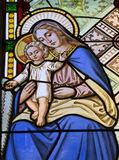 Maria santa - cristal de una ventana Fotos de archivo libres de regalías