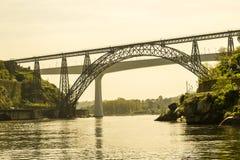 Maria Sao i Pia Joao mosty w Porto obraz stock
