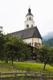Maria Schnee pilgrimsfärdkyrka i Virgen, Obermauern Fotografering för Bildbyråer
