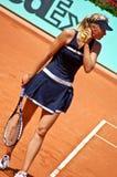 Maria Sharapova durante un emparejamiento en Roland Garros Fotos de archivo libres de regalías