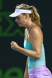 Maria Sharapova. KEY BISCAYNE, FL-MAR 26: Maria Sharapova of Russia reacts after a point during day four at the Miami Open at Crandon Park Tennis Center on March Royalty Free Stock Photography