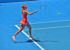 Maria Sharapova playing Stock Photography