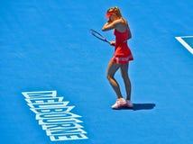 Maria Sharapova playing Royalty Free Stock Images
