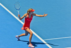 Maria Sharapova playing Royalty Free Stock Photos