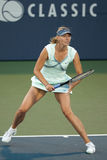 Maria Sharapova plays at the WTA Tour Royalty Free Stock Photos