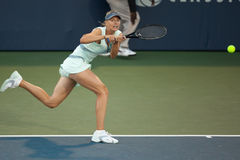 Maria Sharapova plays at the WTA Tour. STANFORD UNIVERSITY, CA - JULY 27: Maria Sharapova, Russia, plays at the Bank of the West Classic vs. Zheng Jie, China, on Stock Image