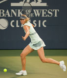 Maria Sharapova plays at the WTA Tour Stock Photos