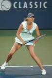 Maria Sharapova speelt bij de Reis WTA Royalty-vrije Stock Foto's