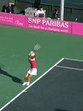 Maria Sharapova tijdens gelijke op tennis Israël - Rusland. Royalty-vrije Stock Fotografie