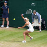Maria Sharapova at Wimbledon Tennis Stock Images