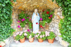 Maria statue in the countryside Poland Royalty Free Stock Photography