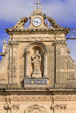 Maria statue on facade of church in Malta Stock Image