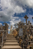 Maria statue at the hill of crosses Royalty Free Stock Photo