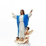Maria Statue isoleerde Royalty-vrije Stock Afbeelding