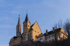 Maria Strassengel. The pilgrimage church of Maria Strassengel is a Catholic parish and pilgrimage church in the village of Jews-Strassengel in Styria Stock Image