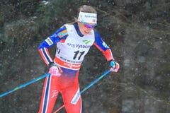 Maria Stroem Nakstad - Cross Country-Skifahren Lizenzfreie Stockfotos