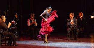 Maria strony, hiszpański flamenco tancerz fotografia royalty free