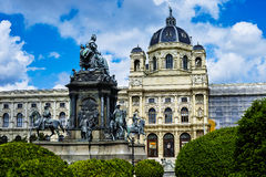 Maria Theresa's memorial and Natural History Museum in Vienna Stock Photo