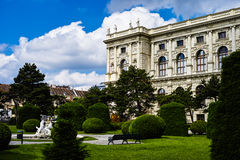 Maria Theresa's memorial and Natural History Museum in Vienna Stock Image