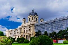 Maria Theresa's memorial and Natural History Museum in Vienna Royalty Free Stock Photo