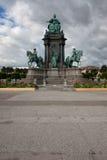 Maria Theresa kwadrat w Wiedeń i zabytek Zdjęcie Stock