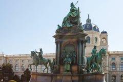 Maria Theresa Monument e museu de Art History Imagens de Stock