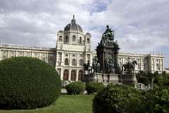 Maria Theresa Square in Vienna Royalty Free Stock Photo