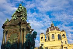 Maria Theresa Statue Low Angle Stock Images