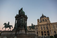 Maria Theresa statue in Museums Quartier, Vienna, Austria Stock Photo