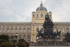 Maria Theresa Statue near Museum Stock Photography