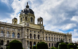 Maria Theresa's memorial and Natural History Museum in Vienna Royalty Free Stock Images